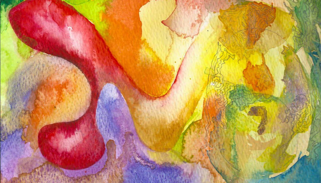 farbenfrohes Aquarell